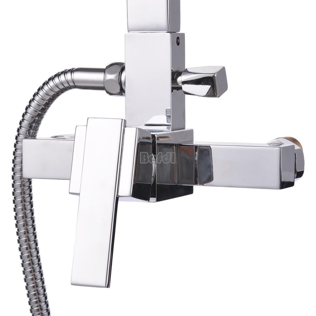 Shower Head Bathroom Rainfall Shower Complete Faucet Shower Set Ebay