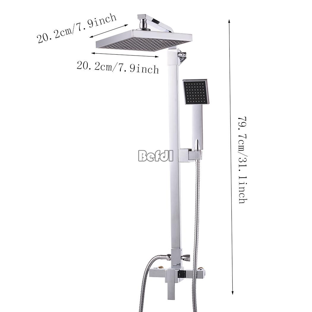 Shower Head Bathroom Rainfall Shower Complete Faucet