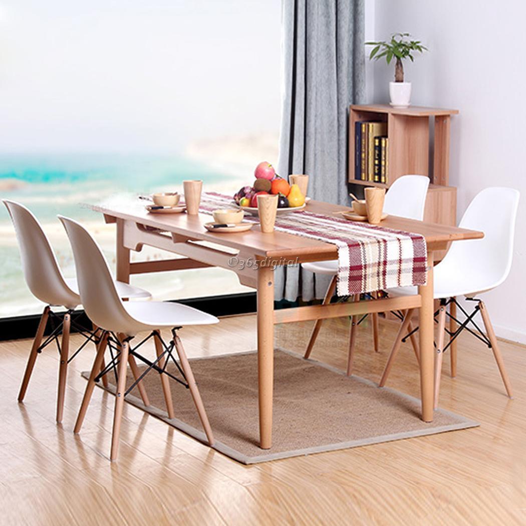 modern 4 x stil eiffel design lounge esszimmer st hle holz tisch retro sessel ebay. Black Bedroom Furniture Sets. Home Design Ideas