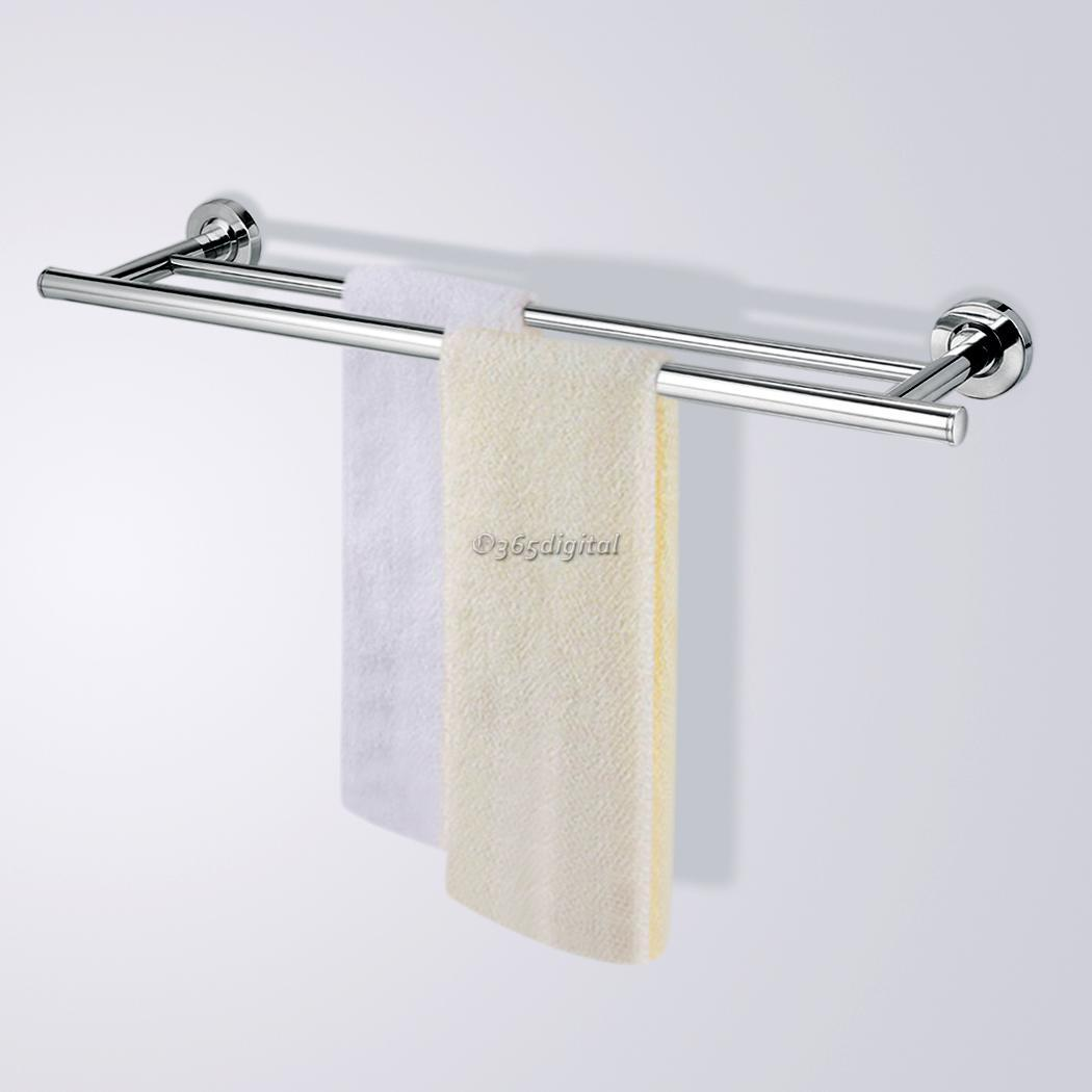 stainless steel wall mounted bathroom towel rail