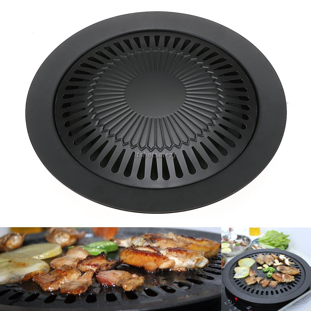 Black Stove Top Barbeque Grill Smokeless Stovetop