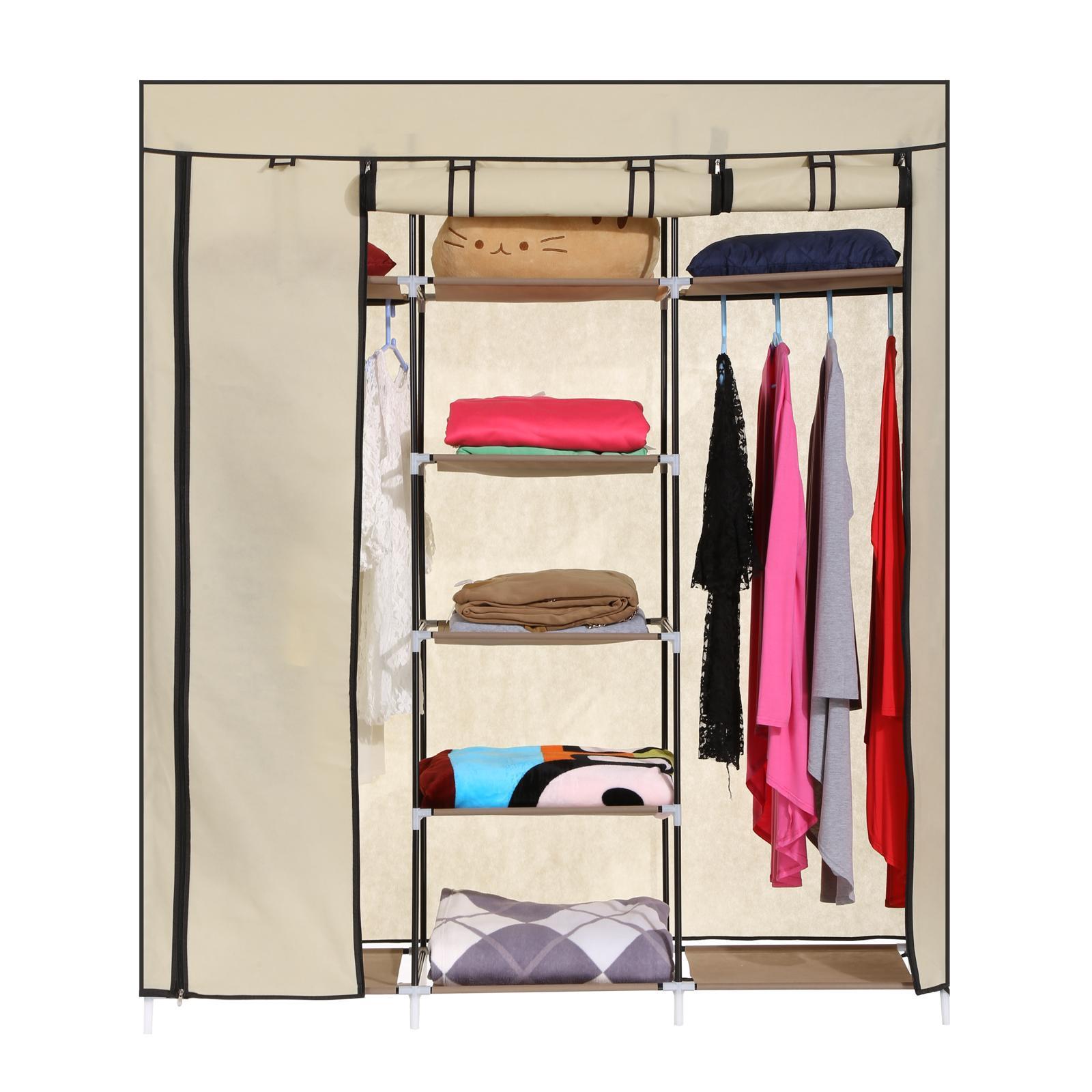 kleiderschrank faltschrank garderobenschrank stoffschrank 175x150x45cm farbwahl ebay. Black Bedroom Furniture Sets. Home Design Ideas