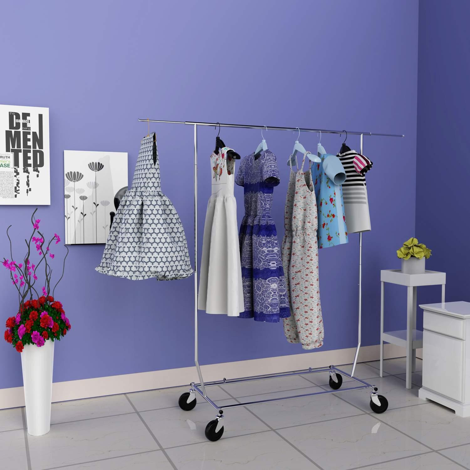 69 7 Quot Commercial Grade Clothing Garment Rolling Rack