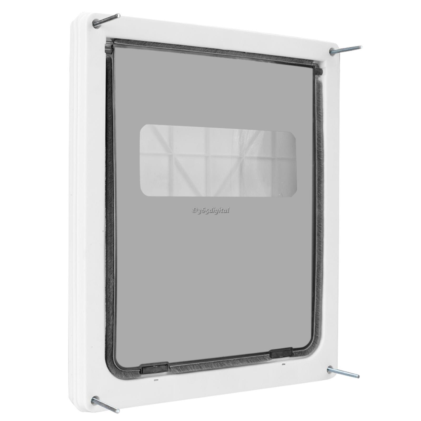 """Pet Door Dual Entry Extra-Large 17""""x14"""" Flap with Sliding Shutter ..."""