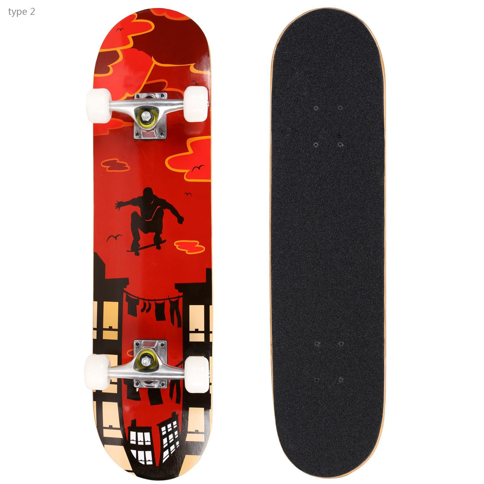 """41""""Maple Wood Deck Complete Skateboard Stained Longboards"""
