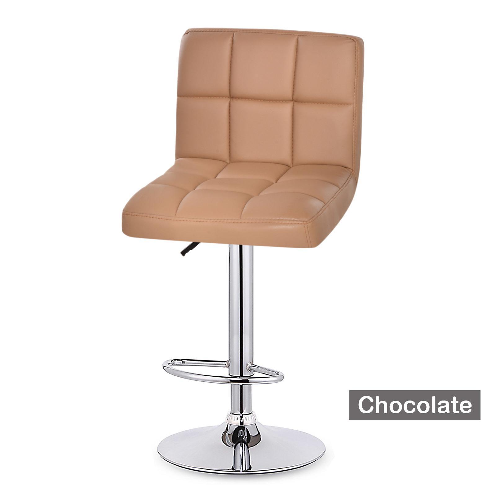 2 Modern Bar Stool Leather Adjustable Swivel Hydraulic