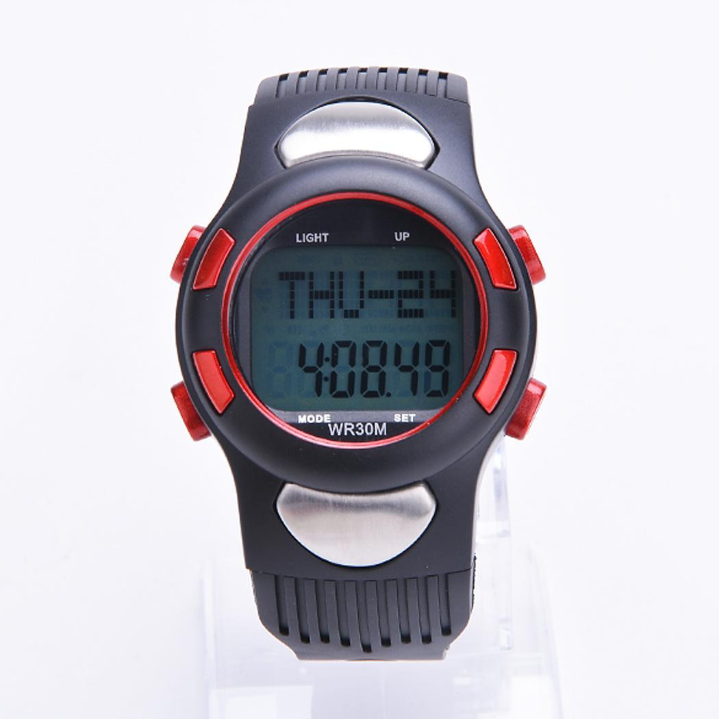 cyber fitness 3d sport watch pulse heart rate monitor with pedometer
