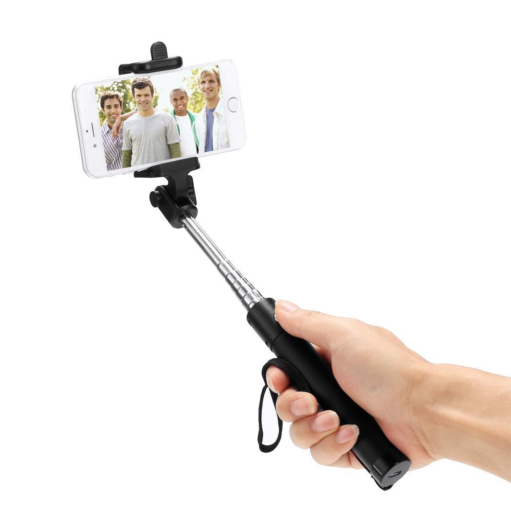 cyber new aluminum wired extendable remote shutter handheld selfie stick monopod for android for. Black Bedroom Furniture Sets. Home Design Ideas