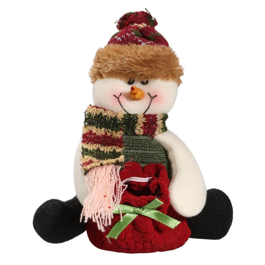 Navidad pap noel elk mu eco de nieve colgantes bolsa de - Adornos de navidad de tela ...