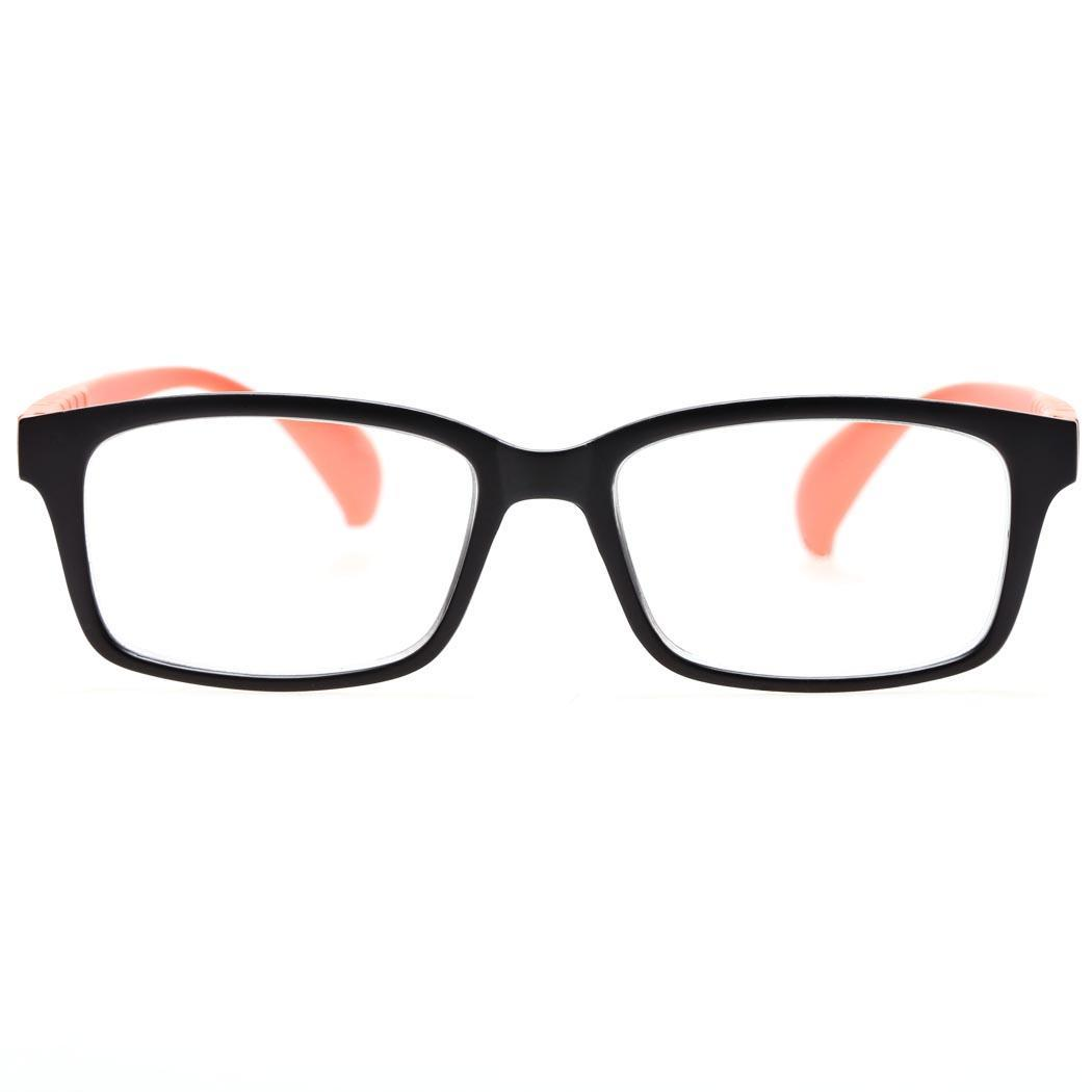 b9afd0a050 Cyber Plastic Frame Unisex Men Women Reading Glasses Readers +1.50 ( Red  and Black )