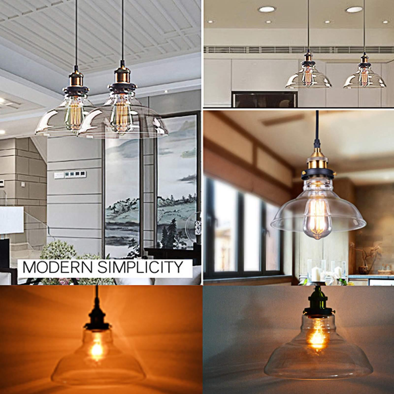 Ceiling Lamp Usa : Retro style industrial pendant lamp vintage glass ceiling