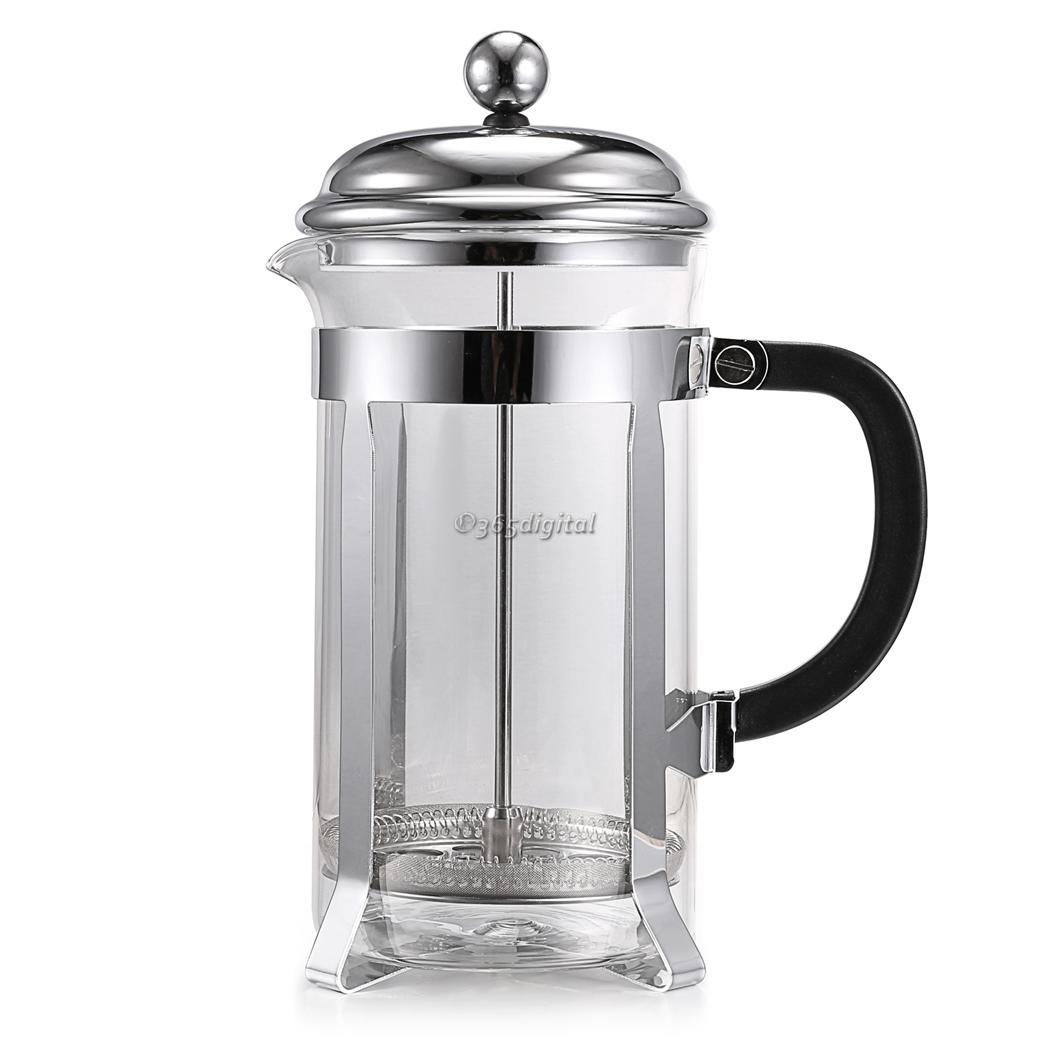 Stainless Steel French Style Press Coffee Tea Maker 1000ml Coffess Press Pot eBay