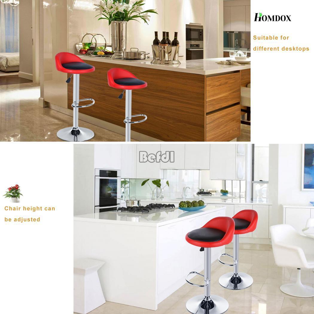 4x bar tabourets cuir pu pivotant barstool cuisine pub petit d jeuner chaises ebay. Black Bedroom Furniture Sets. Home Design Ideas