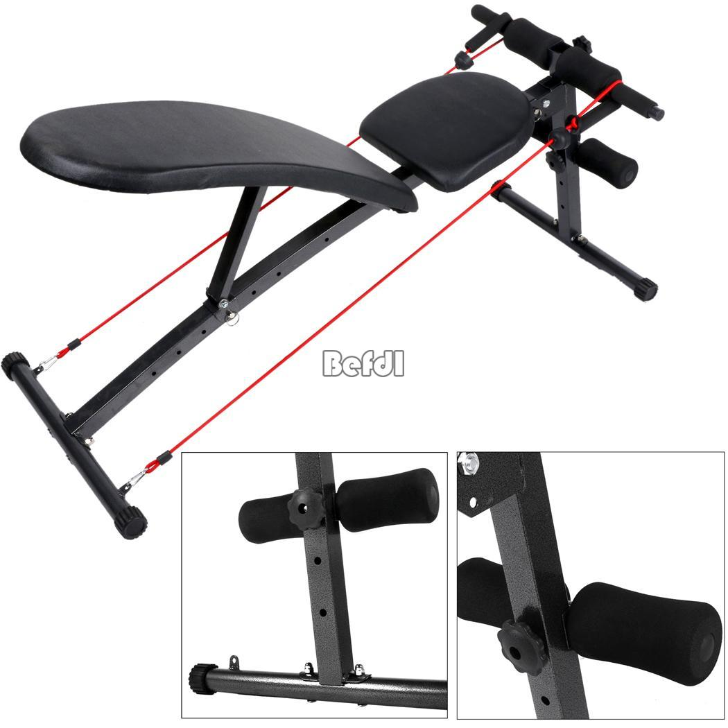 Fitness adjustable weight bench flat incline decline dumbbell home gym exercise - Weight bench incline decline ...