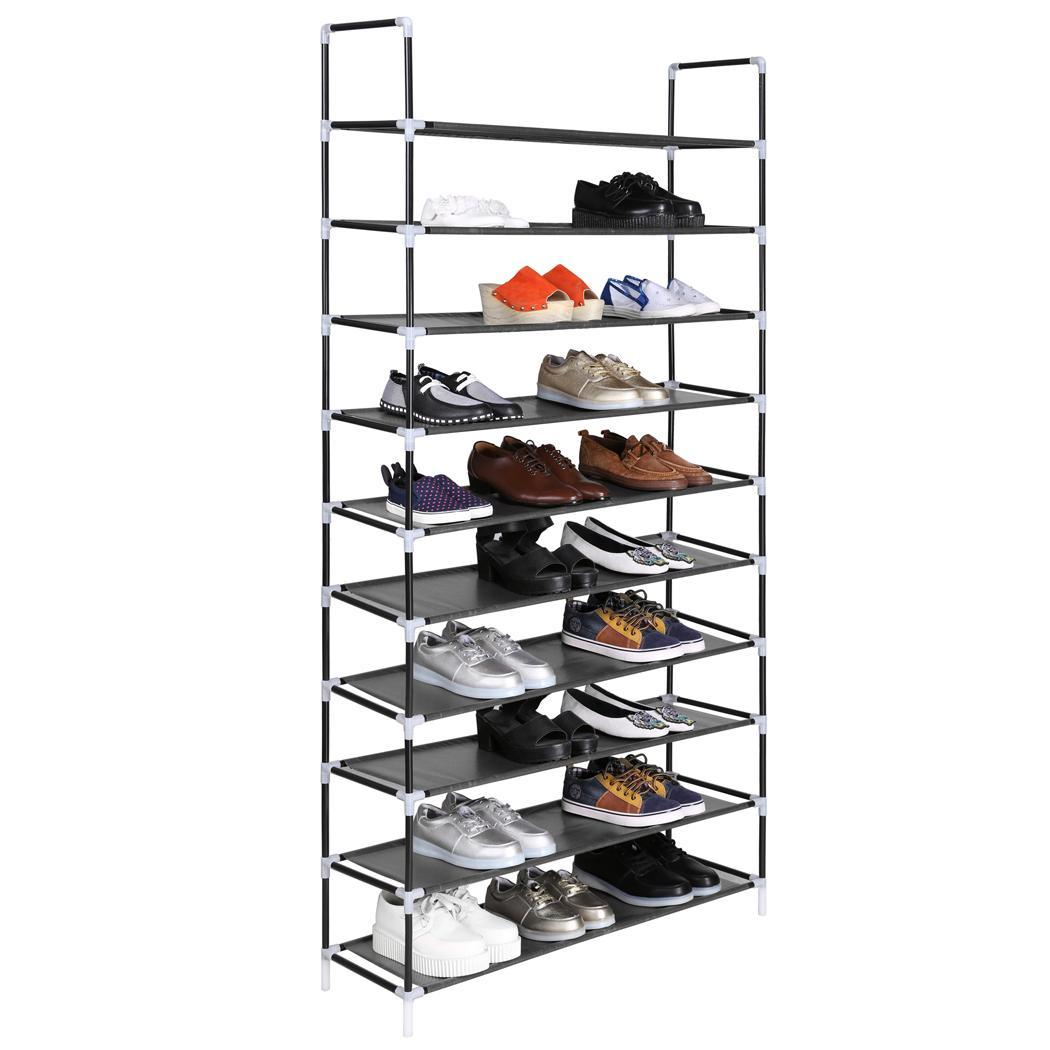 Two Tier Shoe Rack White