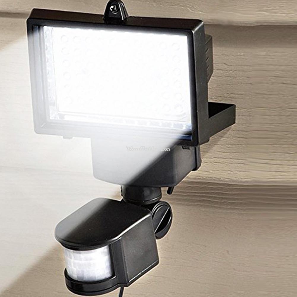 60 Led Pir Motion Sensor Security Floodlight Garden Outdoor Lights Solar Powered Ebay