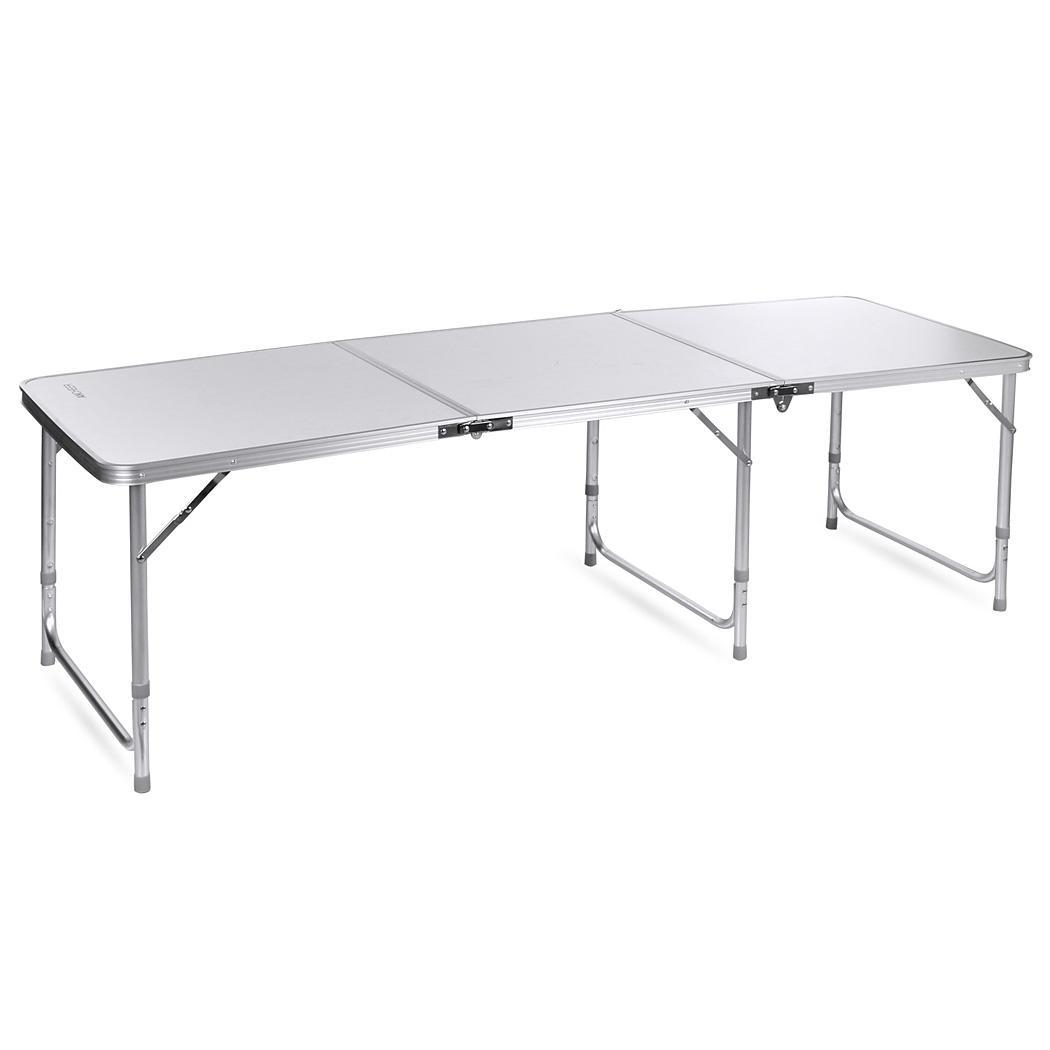ancheer aluminum folding table outdoor camping table 3 in1 picnic party table us ebay. Black Bedroom Furniture Sets. Home Design Ideas