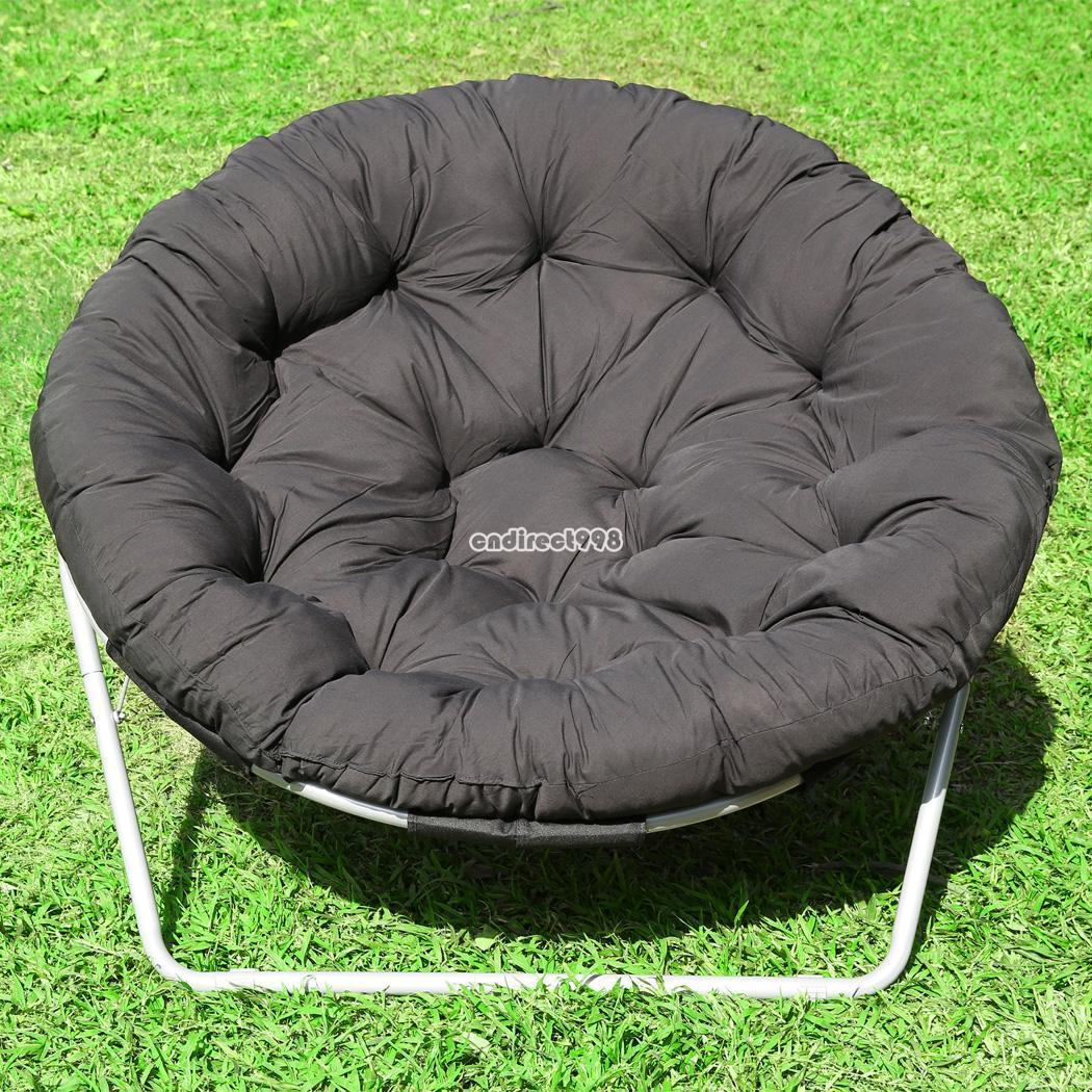 Folding Camping Chair Outdoor Moon Fishing Garden Leisure