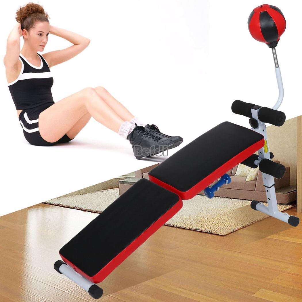 Stability Ball Instead Of Bench: Indoor Exercise Folding Gym Weight Bench Flat/Incline
