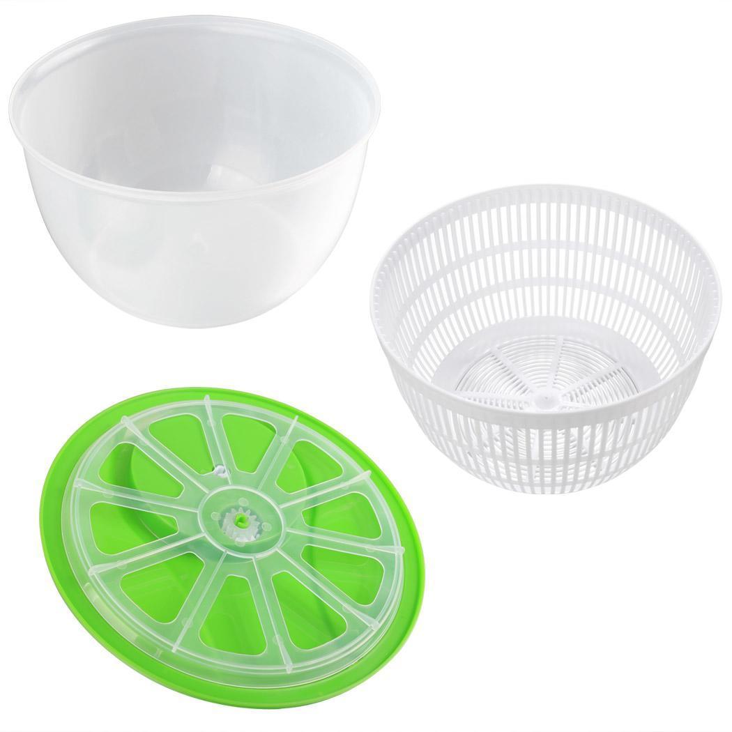 salat salatschleuder salatsch ssel salattrockner k che mit deckel 4 5 liter neu ebay. Black Bedroom Furniture Sets. Home Design Ideas