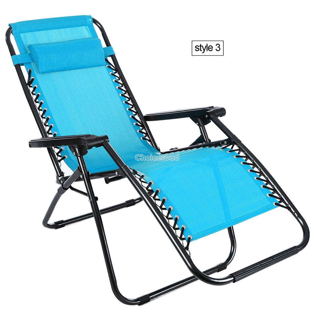 Folding Reclining Garden Chair Outdoor Sun Lounger Deck Camping Beach Lounge C99