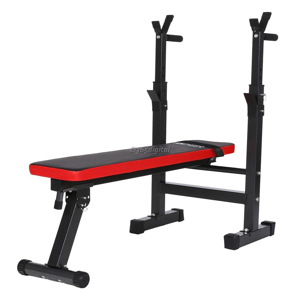 Easy Folding Weight Bench Weight Rack Incline Decline Home Gym Equipment Ebay