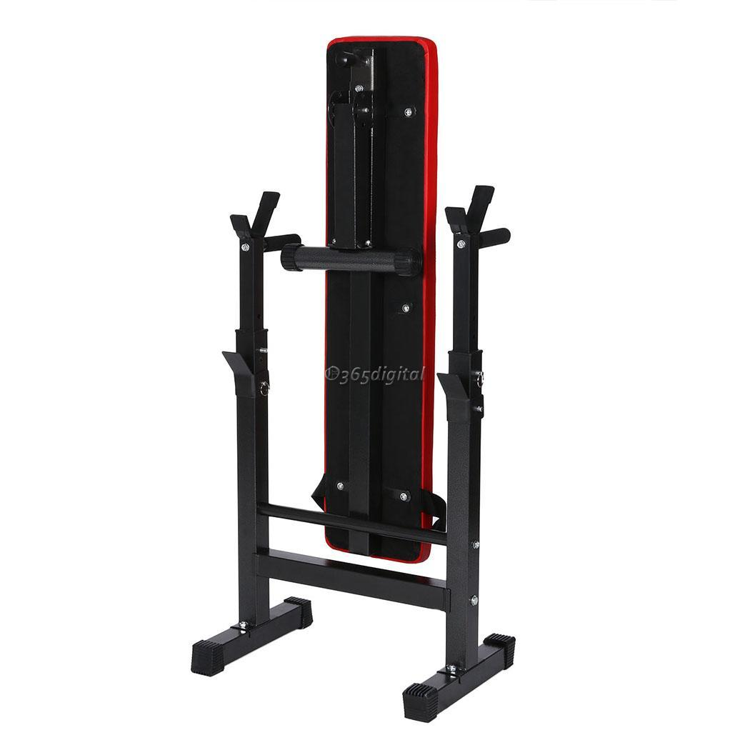 Easy Home Exercise Equipment: Easy Folding Weight Bench Weight Rack Incline Decline Home