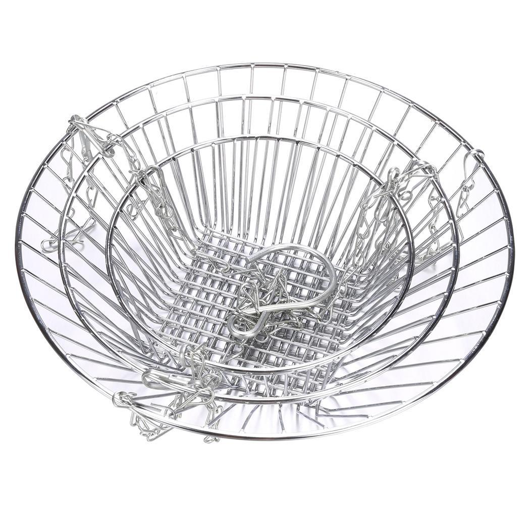 New 3 Tier Stainless Steel Hanging Fruit And Vegetable