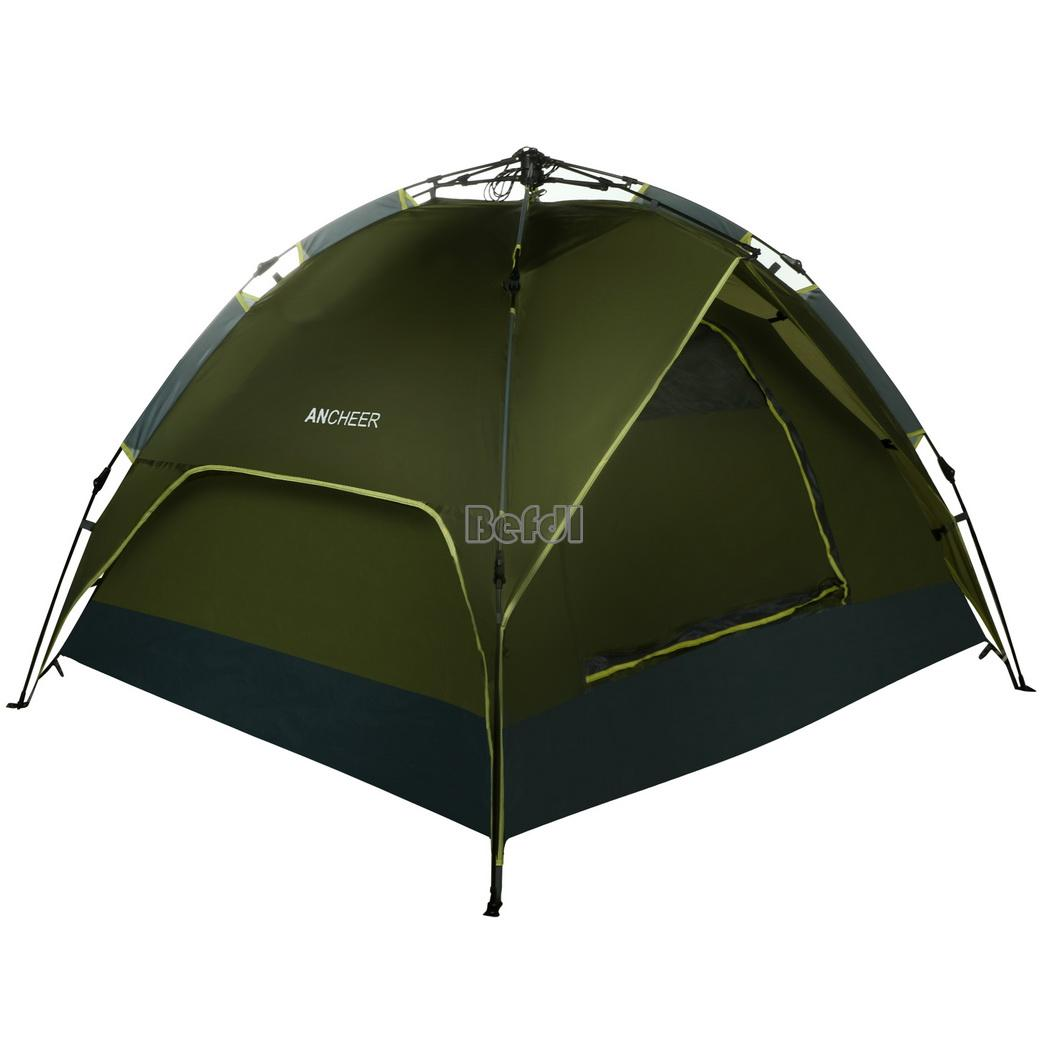new instant camping tent 4 man person family pitch pop up waterproof ebay. Black Bedroom Furniture Sets. Home Design Ideas