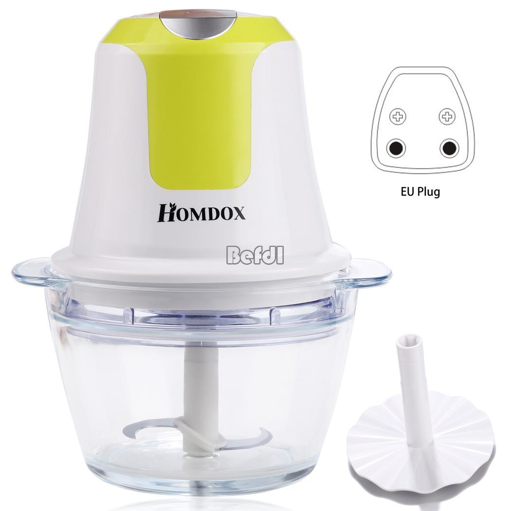 Electric Food Processor ~ White multi functional blender kitchen mini electric food