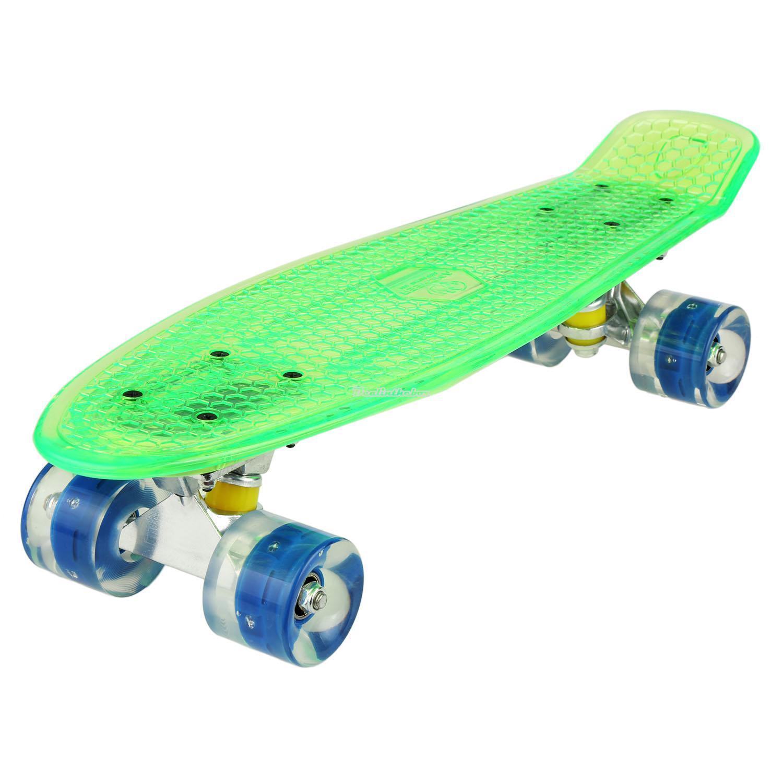 ancheer 22 kinder skateboard mini cruiser board led board rollboard trans d0x8 ebay. Black Bedroom Furniture Sets. Home Design Ideas
