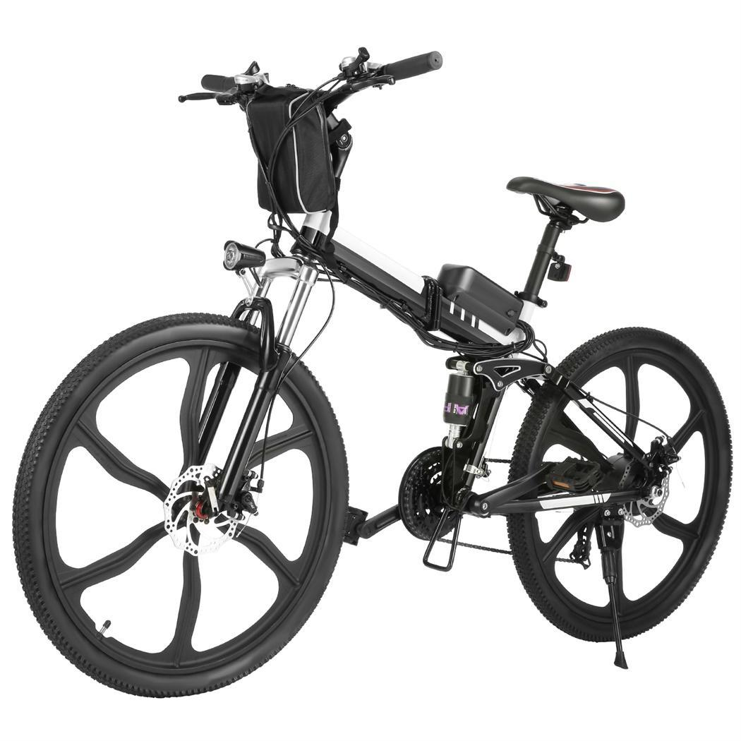 26 foldable electric mountain bike bicycle ebike w lithium. Black Bedroom Furniture Sets. Home Design Ideas