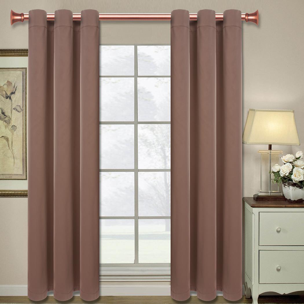 2 Panels Blackout 99 Light Window Lined Curtain Drape Grommets 83 5 X 51 5 Es8 Ebay