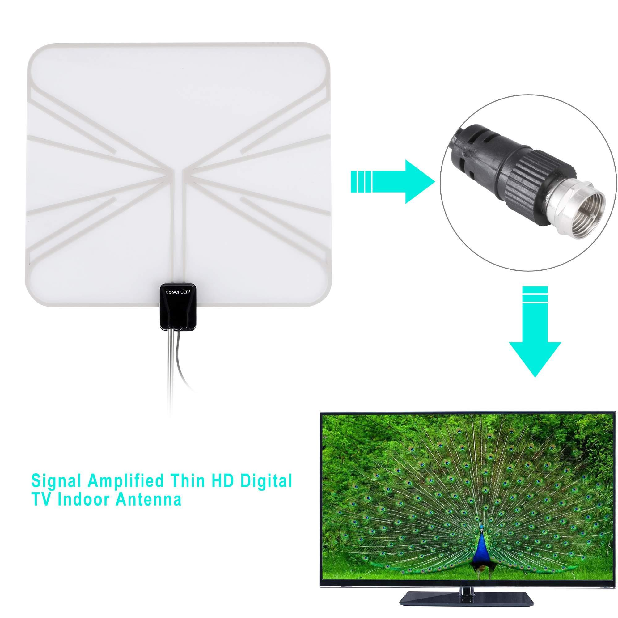 Digital indoor tv antenna hdtv dtv box ready hd vhf uhf for Hdtv antenna template