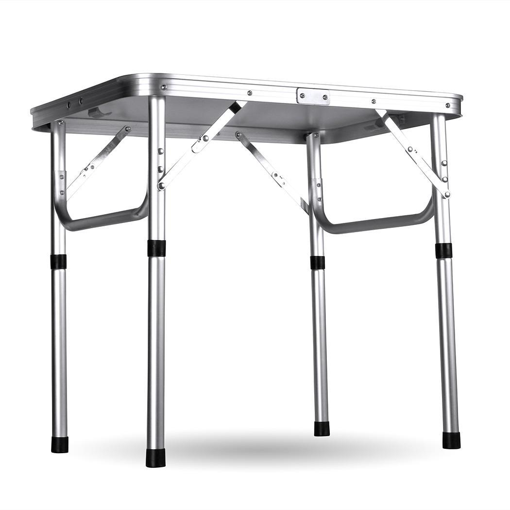 2xportable aluminum folding table outdoor camping picnic - Camping table adjustable height ...