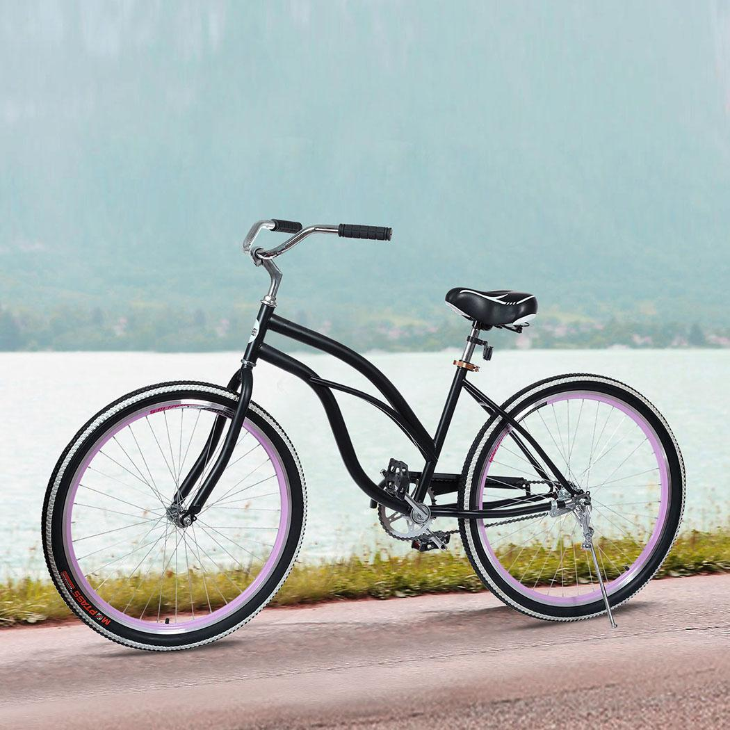 26inch single speed women cruiser bicycle cycling steel frame bet gift ebay. Black Bedroom Furniture Sets. Home Design Ideas
