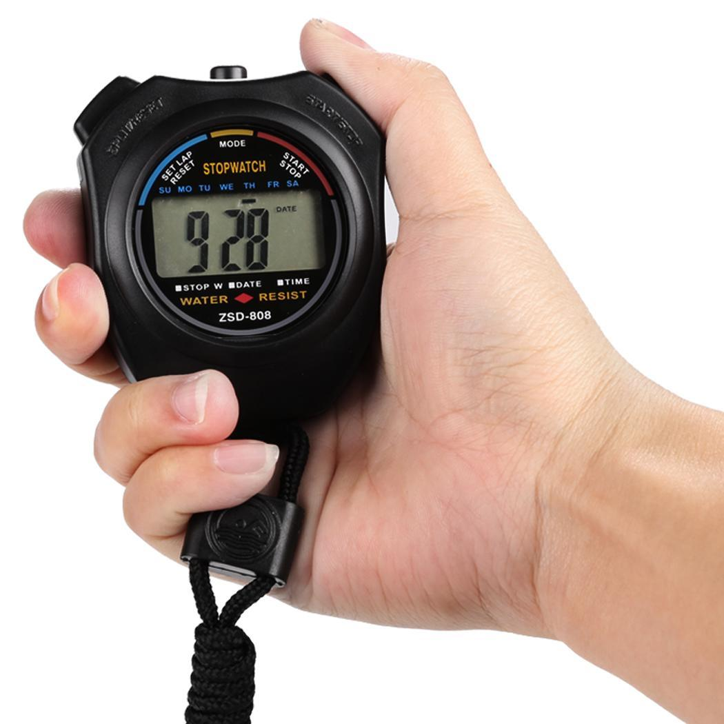 counter sports professional chronograph lcd digital