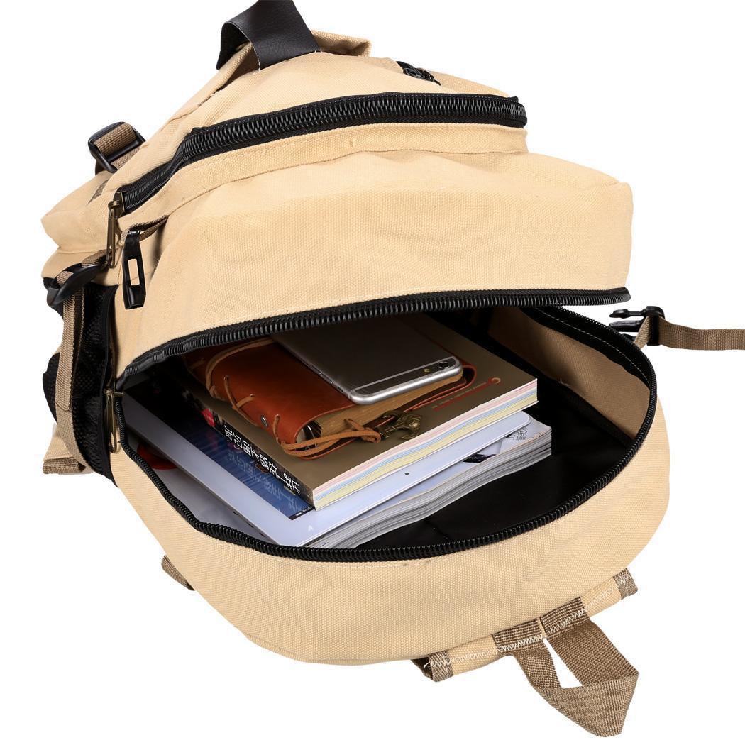 Zaino Elicottero : Vintage borsa di canapa viaggio zaino per uomo