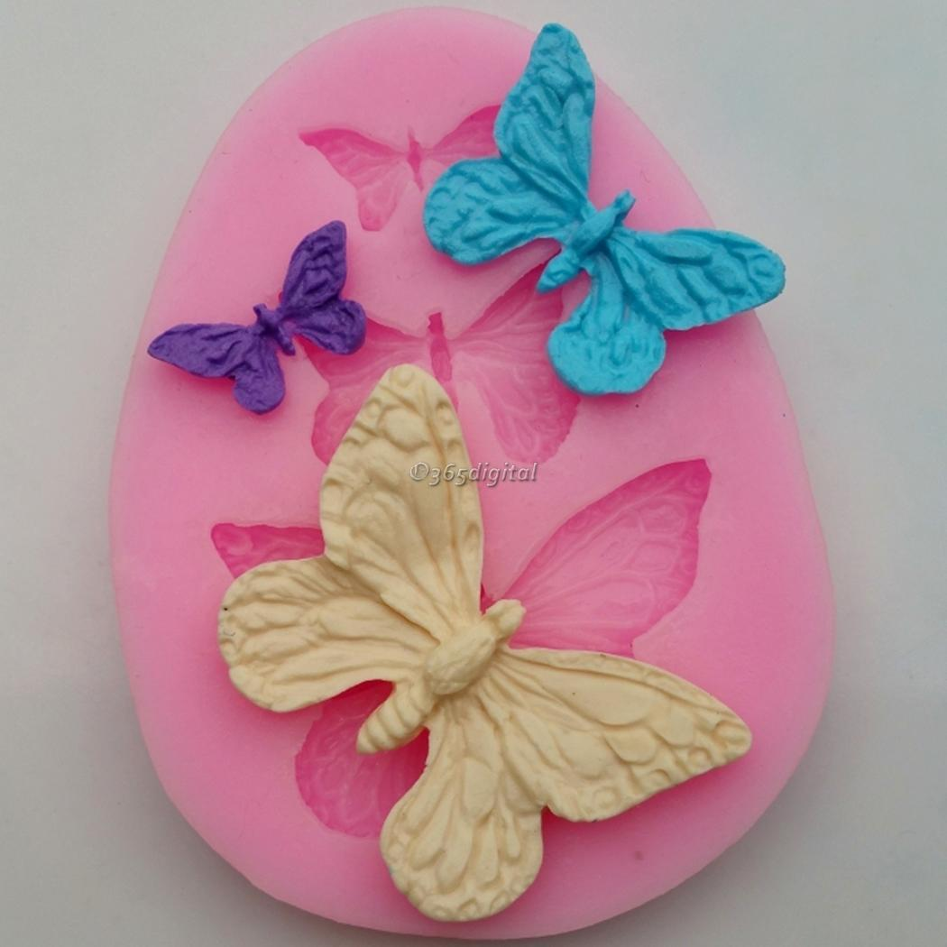 3d papillon d coration g teau moule silicone fondant - Decoration gateau papillon ...