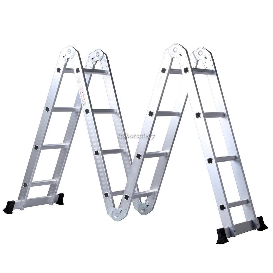 Folding Extension Ladder : M multi purpose aluminum telescopic folding ladder