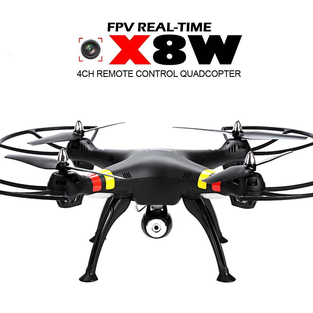 noir syma x8w explorateurs drone wi fi fpv quadrirotor t l command 4ch gyro 2mp ebay. Black Bedroom Furniture Sets. Home Design Ideas