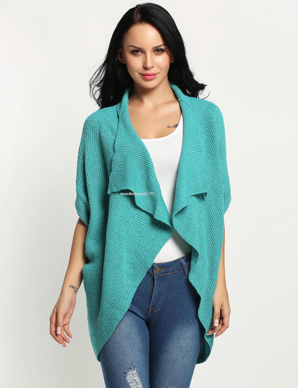 Winter Ladies Women Fashion Batwing Short Sleeve Loose ...