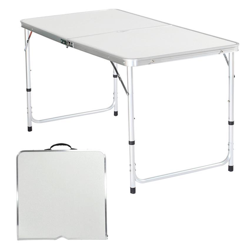4 39 folding table portable plastic indoor outdoor picnic party dining camp tables ebay. Black Bedroom Furniture Sets. Home Design Ideas