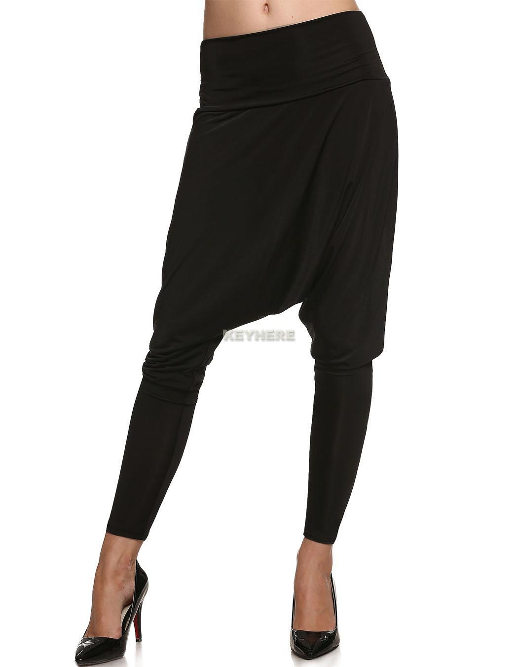 Beautiful Women39s Stylish Full Length Harem Pants Loose Slim Feet Trousers Baggy
