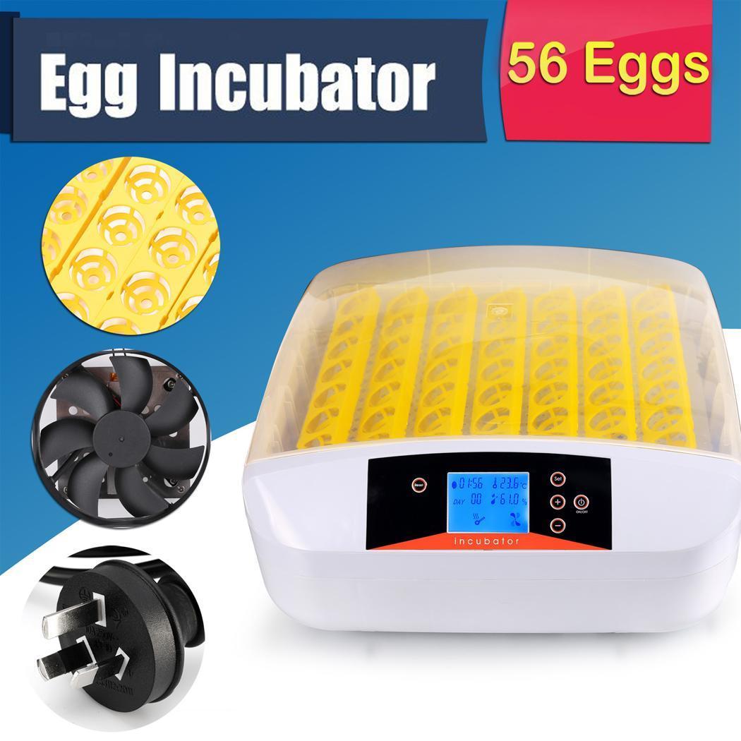 12/56 Egg Incubator Digital Temp Control Poultry Hatcher Egg Turner E7 #BF9A0C