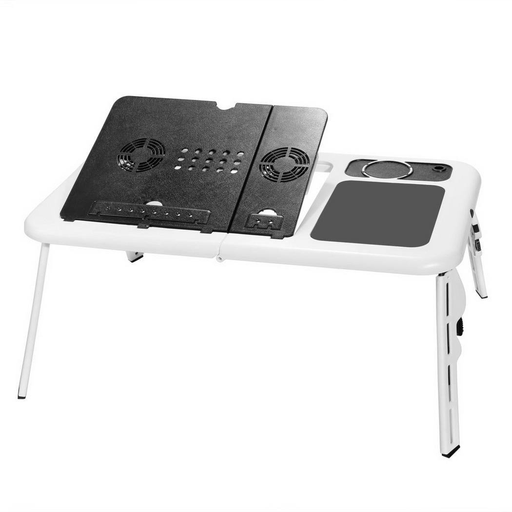 2 colors folding adjustable laptop desk computer table stand for sofa bed couch ebay. Black Bedroom Furniture Sets. Home Design Ideas