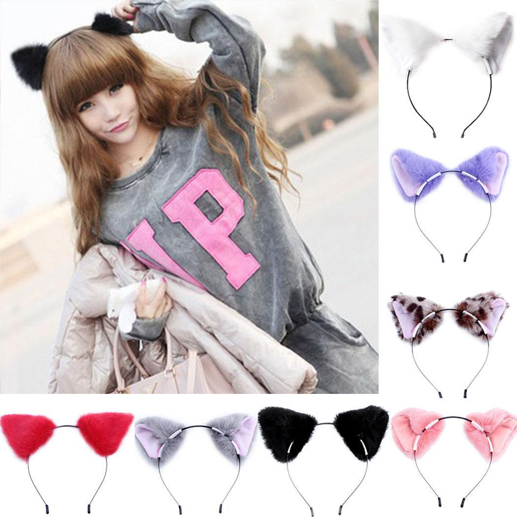 Hot Cat Fox Long Fur Ears Anime Neko Hair Clip Orecchiette