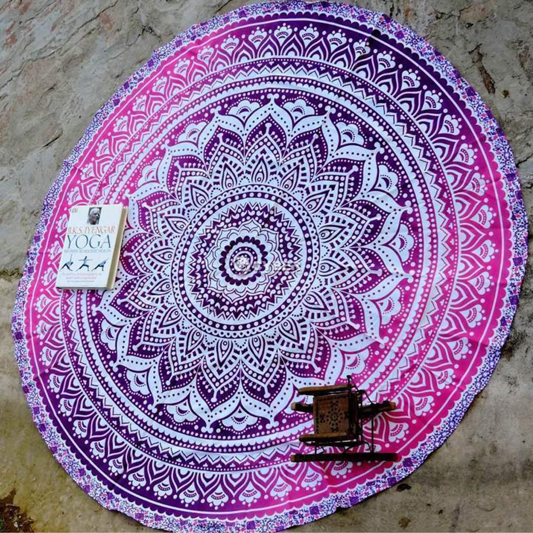 Indian Round Mandala Hippie Tapestry Beach Throw Towel