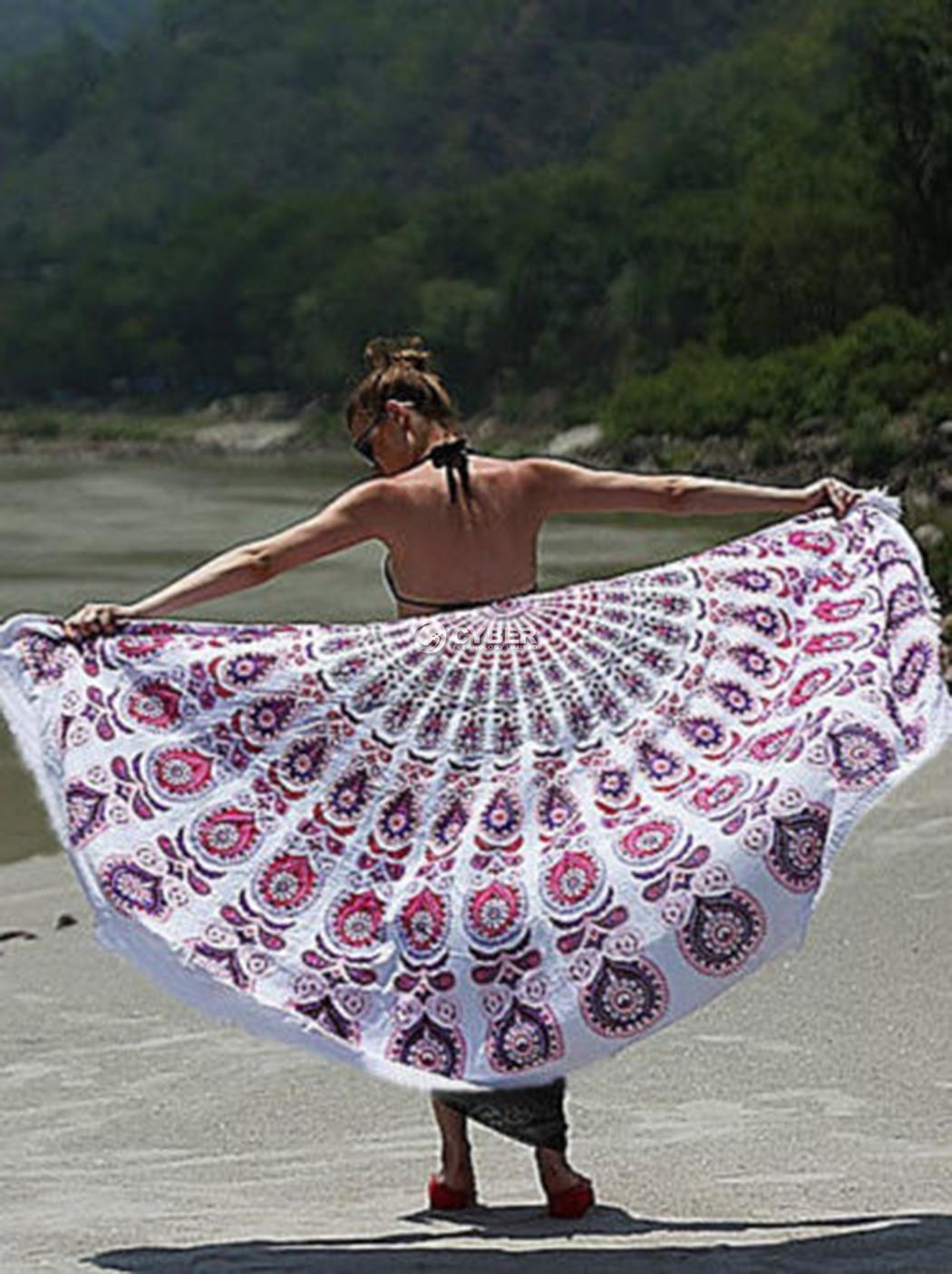Arredamento hippie mandala tapezzeria da parete telo da for Arredamento da spiaggia