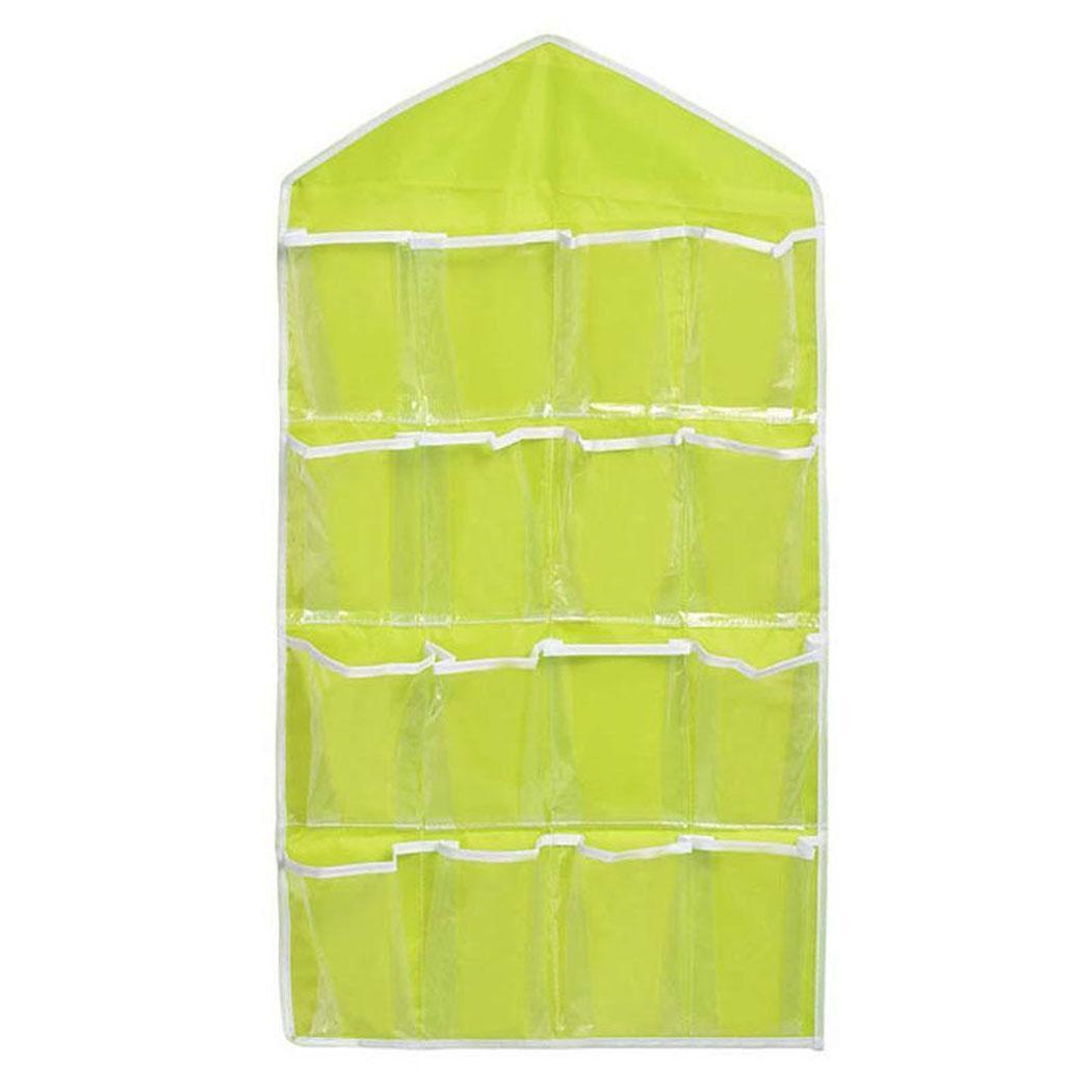 16 pockets clear over door hanging bag shoe rack hanger storage organizer new ebay. Black Bedroom Furniture Sets. Home Design Ideas